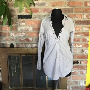 Free People Tops - Free people cotton button down long sleeve size 6